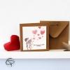 Carte de vœux grand-mère personnalisable petits enfants peints main