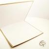 intérieur espace blanc carte de voeux papier kraft