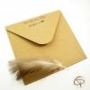 enveloppe carrée papier kraft fournie carte de voeux