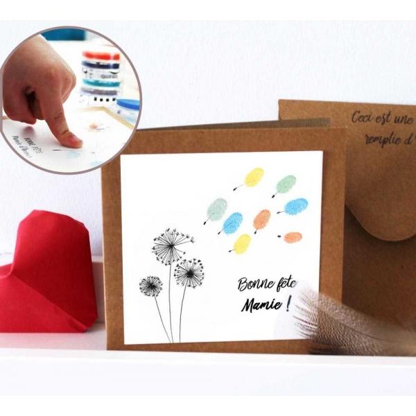 Carte de vœux pissenlit personnalisable mamie