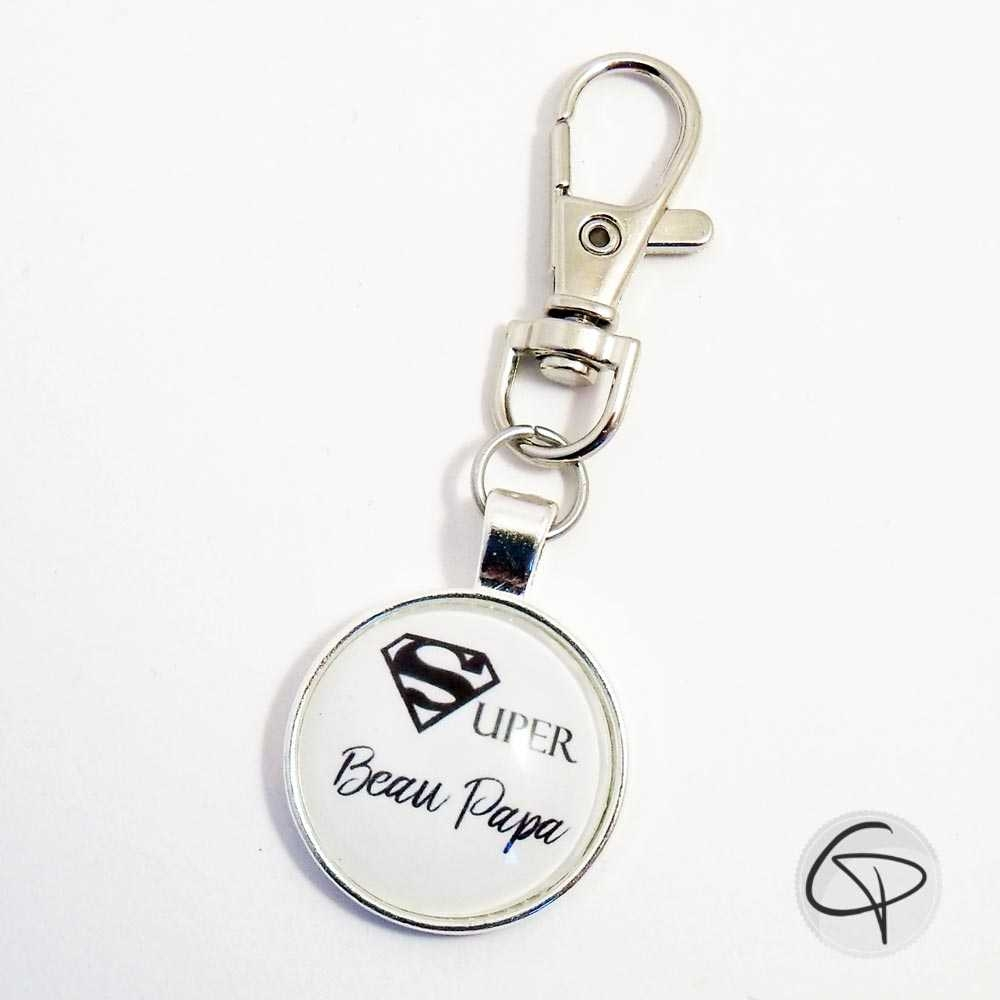 Porte-clef super beau-papa cadeau personnalisé beau-père