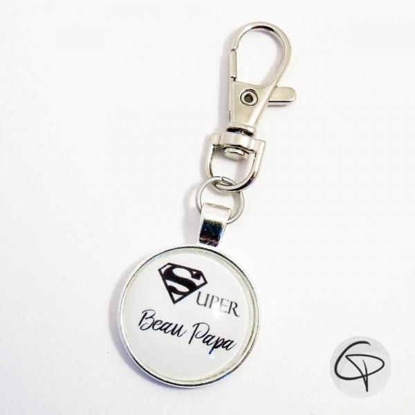 Porte-clef SUPER BEAU PAPA - cadeau personnalisé beau-père