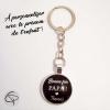 Porte-clef personnalisable fête des pères message sous médaillon