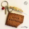 Porte-clé biscuit MAÎTRESSE à personnaliser de la part de ...