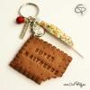 Porte-clef biscuit super maîtresse personnalisé prénom élève