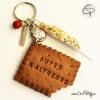 Porte-clé biscuit croqué super maîtresse cadeau original personnalisable