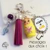 Porte-clef de sac poupée russe message au choix cadeau école maternelle primaire