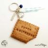 1-Porte-clé biscuit croqué maîtresse cadeau personnalisable institutrice