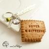 2-Porte-clef biscuit croqué super maîtresse cadeau à personnalisé prénom élève fin année scolaire