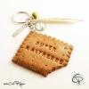 2-Porte-clé original maîtresse école biscuit croqué à personnaliser de la part de cadeau instiutrice
