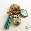 Porte-clef montre hibou cadeau original personnalisé maîtresse
