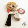 Porte-clef argenté montre gousset coccinelle cadeau original maîtresse