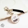 Porte-clef annonce personnalisée de grossesse futur papi ou papy