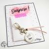 Porte-clef annonce de grossesse bientôt mamie pochette surprise