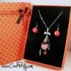 Sautoir pendentif fiole cœur bijou fantaisie haut de gamme femme