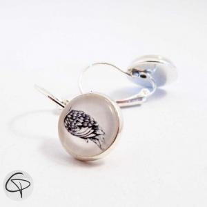 boucles d'oreilles ailes d'ange bijou delicat et romantique pour femme