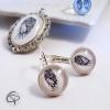 boucles d'oreilles aile d'ange bijou argenté fait main bijou femme