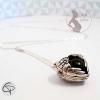 bola de grossesse en forme de coeur boule noire bijou raffiné femme enceinte