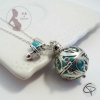 Bola de grossesse grelot musical vert d'eau perle turquoise et tétine bola personnalisé bijou original femme enceinte