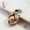 bola de grossesse coeur perle dorée ange coeur bijou femme enceinte