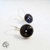 boucles d'oreilles femme dessin chat noir bijou de créateur bijou collection chats