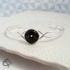 bracelet chat noir moustache blanche bijou délicat et raffiné pour femme fait main