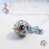 bola de grossesse femme enceinte perle bleu ciel trèfle pendentif personnalisé