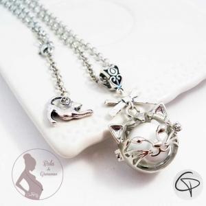 Bola tête de chat grelot blanc
