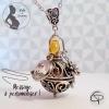 bola de grossesse personnalisé bijou femme enceinte grelot couleur cuivre perle goutte en verre