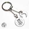 Porte-clé personnalisé papy meilleur bricoleur avec décapsuleur
