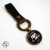 Porte-clé en cuir personnalisé meilleur papi du monde cadeau grand-père