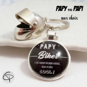 Porte-clé personnalisé papi ou papy biker cadeau original
