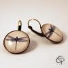 Boucles d'oreilles dessin de libellule bijou pour femme