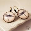 Boucles d'oreilles illustration libellule bijou pour femme