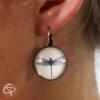 Boucles d'oreilles pour femme dessin de libellule