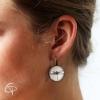 Boucles d'oreilles bronze libellule faite main lobe d'oreille femme