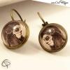 boucles d'oreilles catrina boucles bronze type dormeuse bijou femme