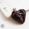 pendentif coeur brisé sang violet cousu fil bijou femme spécial halloween