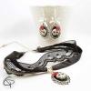 collier tour-de-cou dentelle tête de mort 3d bijou femme sexy halloween