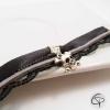 bracelet dentelle noire tête de mort argentée bijou femme