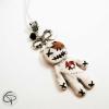 pendentif poupée vaudou sautoir argenté bijou fait main halloween
