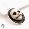 collier halloween pendentif avec crâne 3d