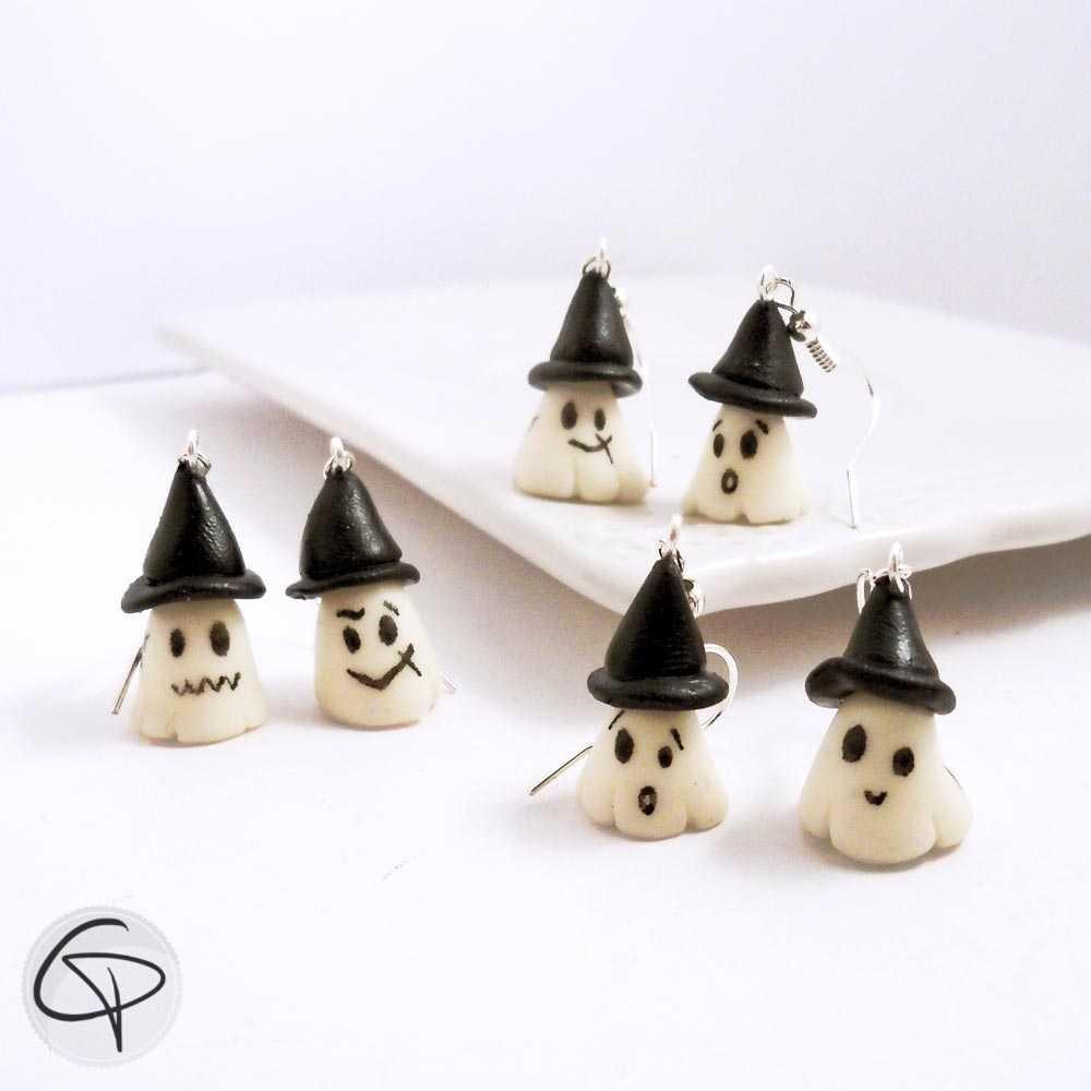boucles d'oreilles fantômes phosphorescents bijoux originaux pour femme spécial halloween