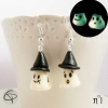 boucles d'oreilles petit fantôme phosphorescent bijou original femme halloween