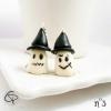 pendants d'oreilles argentés petits fantômes lumineux boucles d'oreilles femme originale pour halloween
