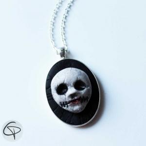 pendentif tête de mort relief 3d bijou halloween