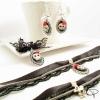 collier tour-de-cou dentelle tête de mort 3d bijoux halloween