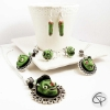 Boucles d'oreilles doigt coupé bijoux zombie vert halloween