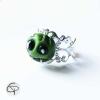 Bague tête de vampire vert bijou femme halloween