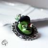 pendentif monstre frankenstein mort vivant vert bijou halloween